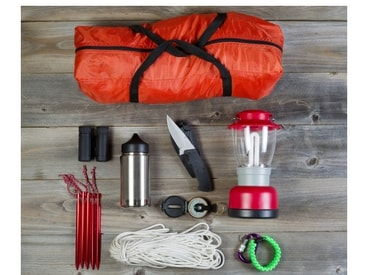 Inhalt einer Notfalltasche und eines Notfallrucksacks